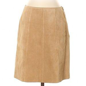 Ann Taylor Mid Length 100% Leather Skirt